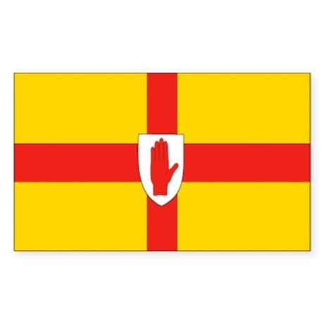 """Ulster Provincial Flag"" Rectangle Sticker"
