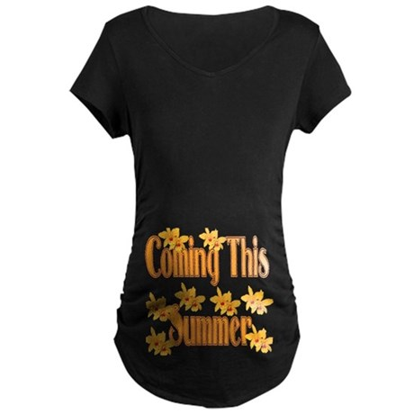 Coming This Summer Maternity Dark T-Shirt
