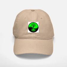 Think Green Yin Yang Baseball Baseball Cap