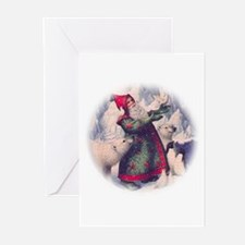 Polar bears and Santa Greeting Cards (Pk of 10
