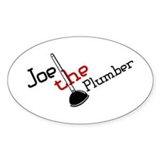 Joe the Plumber Oval Decal