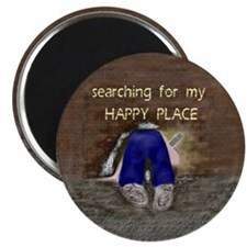 Searching for My HAPPY PLACE Magnet
