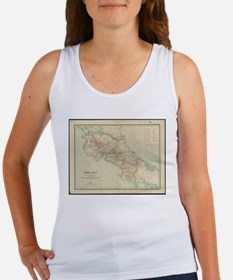 Vintage Map of Costa Rica (1903) Tank Top