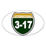 I-317 Oval Sticker (10 pk)