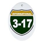 I-317 Oval Ornament