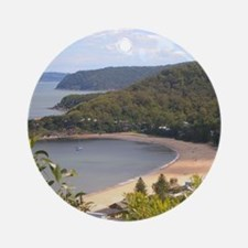 Pearl Beach, Central Coast Round Ornament