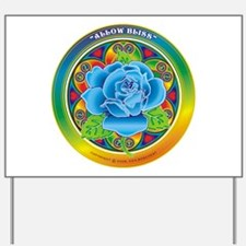 Blue Rose Bliss Yard Sign