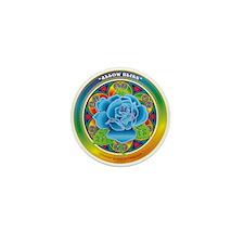 Blue Rose Bliss Mini Button