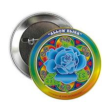 "Blue Rose Bliss 2.25"" Button"