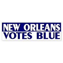 New Orleans Votes Blue bumper sticker