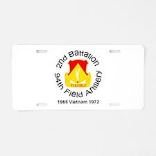 2/94 black square Aluminum License Plate