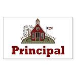 School Principal Rectangle Sticker