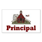 School Principal Rectangle Sticker 10 pk)