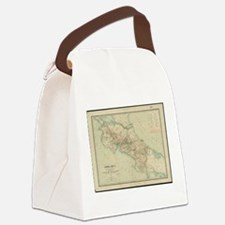 Vintage Map of Costa Rica (1903) Canvas Lunch Bag