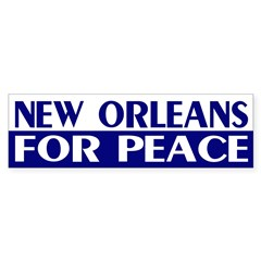 New Orleans for Peace bumper sticker