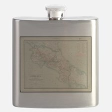 Vintage Map of Costa Rica (1903) Flask