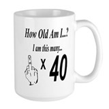 40 year old birthday Large Mugs (15 oz)
