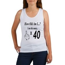 2-how old am I 40 Tank Top