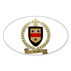 SEARS Family Crest Oval Decal