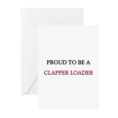 Proud to be a Clapper Loader Greeting Cards (Pk of