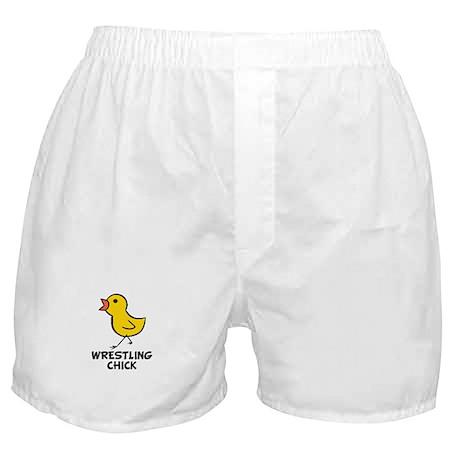 Wrestling Chick Boxer Shorts