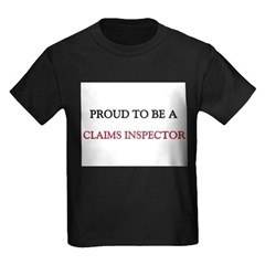 Proud to be a Claims Inspector Kids Dark T-Shirt