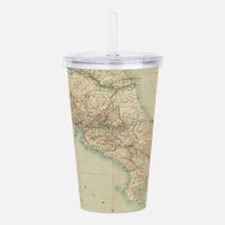 Vintage Map of Costa R Acrylic Double-wall Tumbler