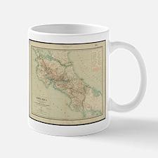 Vintage Map of Costa Rica (1903) Mugs