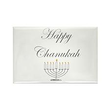 Happy Chanukah Menorah Rectangle Magnet