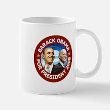 Obama 2008 Deep Red Mug