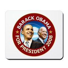 Obama 2008 Deep Red Mousepad