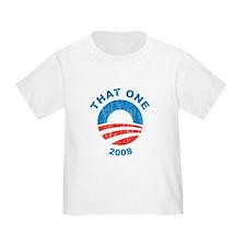 Vintage That One 2008 obama Logo T