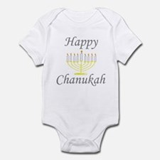 Happy Chanukah Menorah Infant Bodysuit