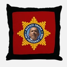 Obama Star Throw Pillow