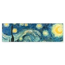 Vincent van Gogh's Starry Night Bumper Car Car Sticker