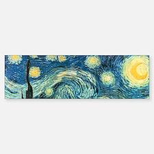 Vincent van Gogh's Starry Night Bumper Car Car Sticker