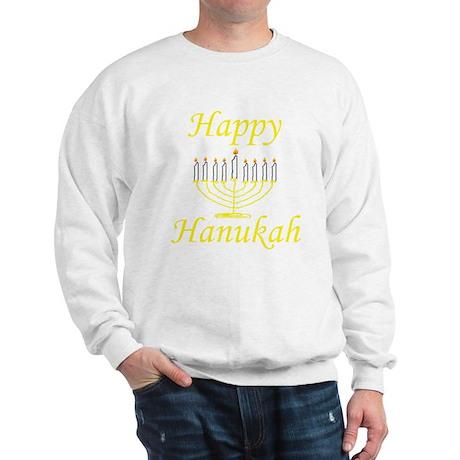 Happy Hanukah Menorah Sweatshirt