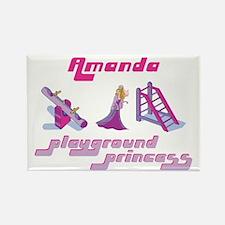 Amanda - Playground Princess Rectangle Magnet