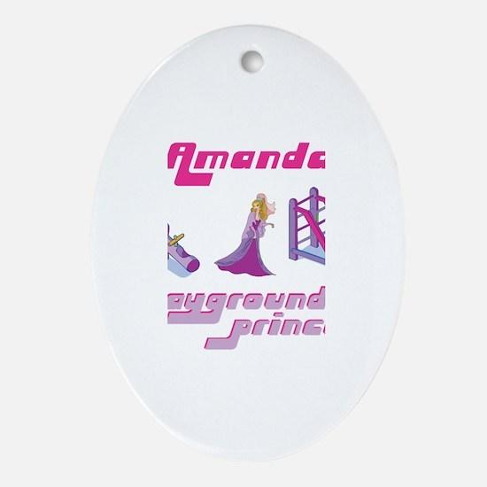 Amanda - Playground Princess Oval Ornament