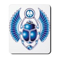 Blue Scarab Mousepad