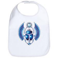 Blue Scarab Bib