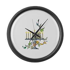 Menorah Large Wall Clock