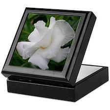 White Flower Keepsake Box