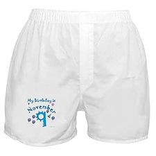 November 9th Birthday Boxer Shorts