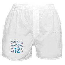 November 12th Birthday Boxer Shorts