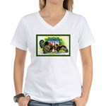 National Birds on Thanksgivin Women's V-Neck T-Shi
