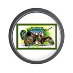 National Birds on Thanksgivin Wall Clock