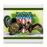 National Birds on Thanksgivin Tile Coaster
