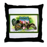 National Birds on Thanksgivin Throw Pillow