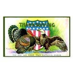 National Birds on Thanksgivin Rectangle Sticker
